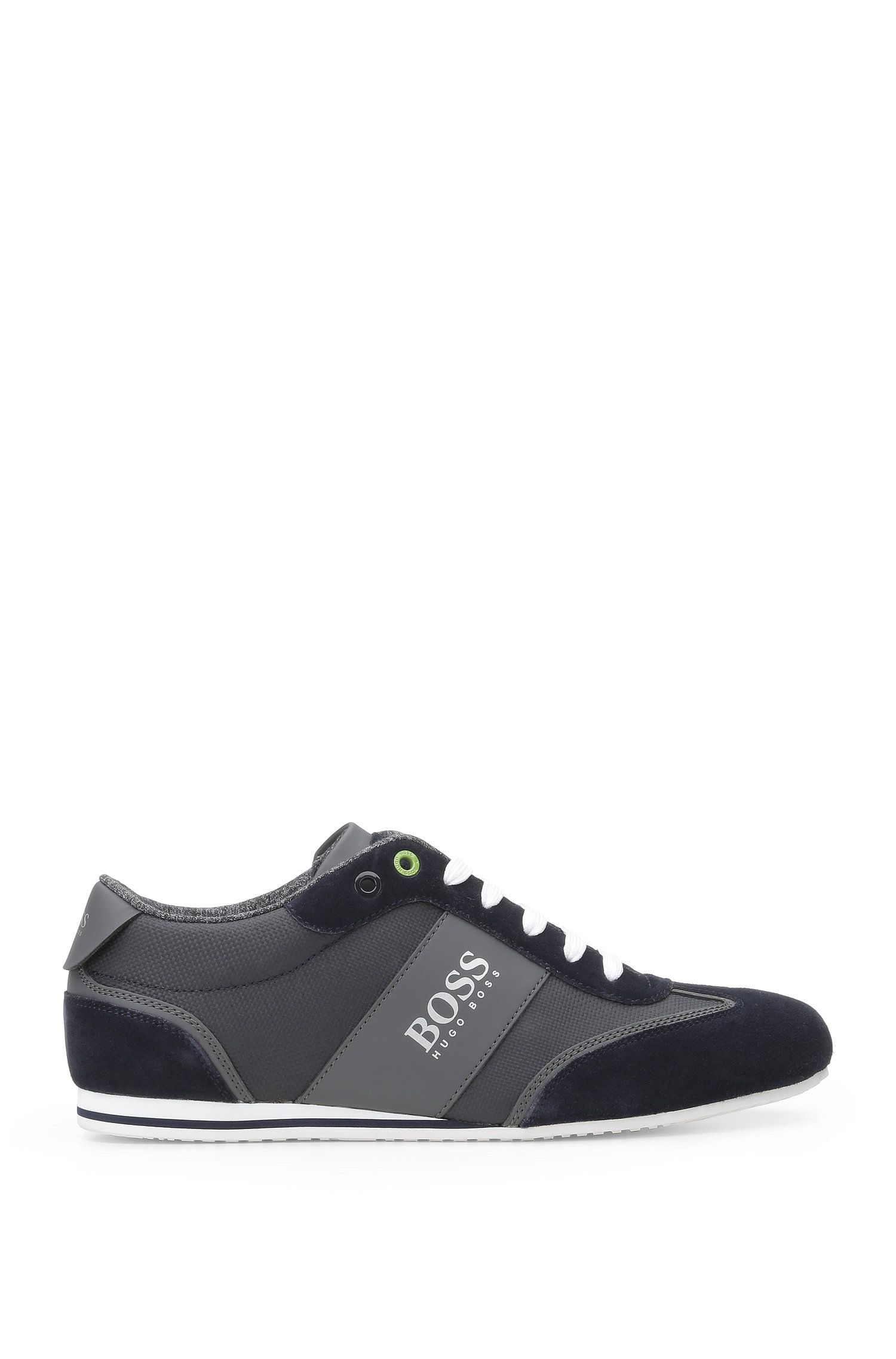 Trainers in a material blend of textile and leather: 'Lighter_Lowp_cvc'