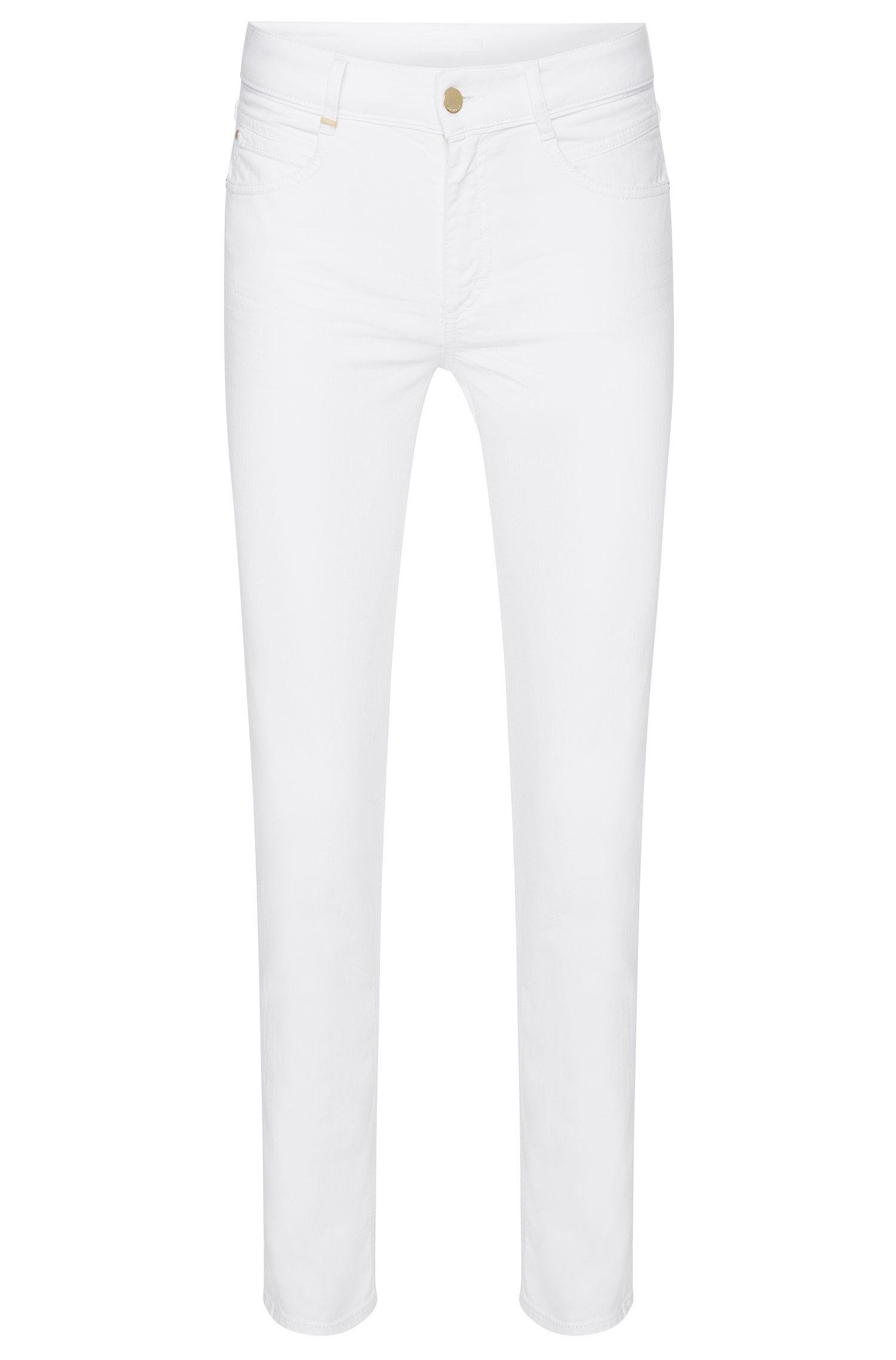 Regular-Fit Jeans aus Stretch-Baumwolle in Cropped-Länge: 'Nelin Tape'