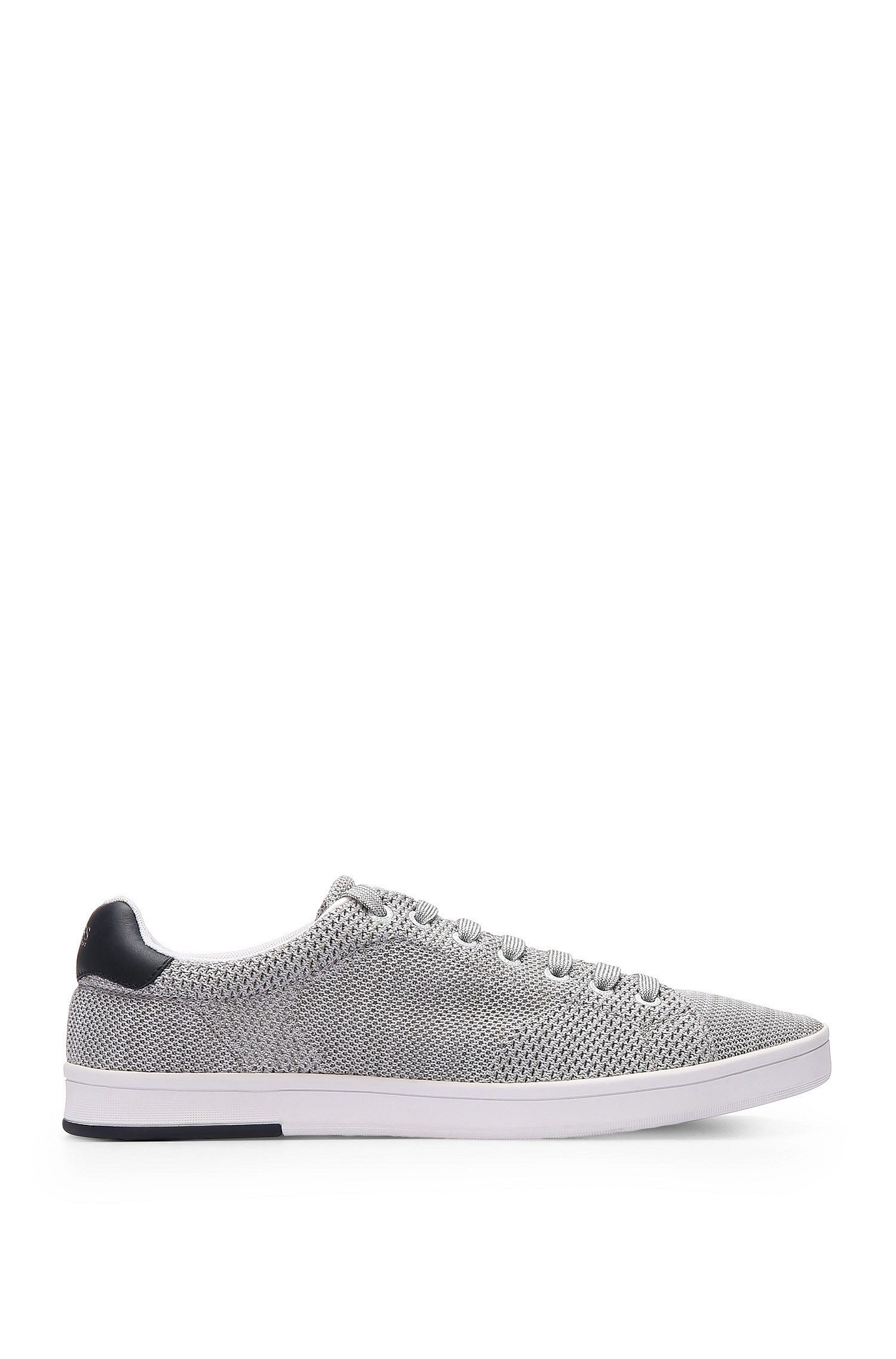 Sneakers aus strickähnlichem Textil mit Lederbesätzen: ´Rayadv_Tenn_sykn`