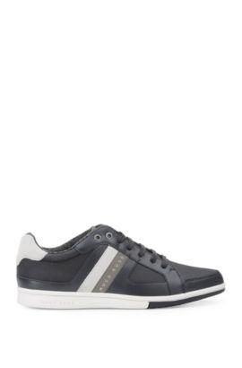 Low Top Sneakers aus Material-Mix: ´Metro_Tenn_cvc`, Dunkelblau