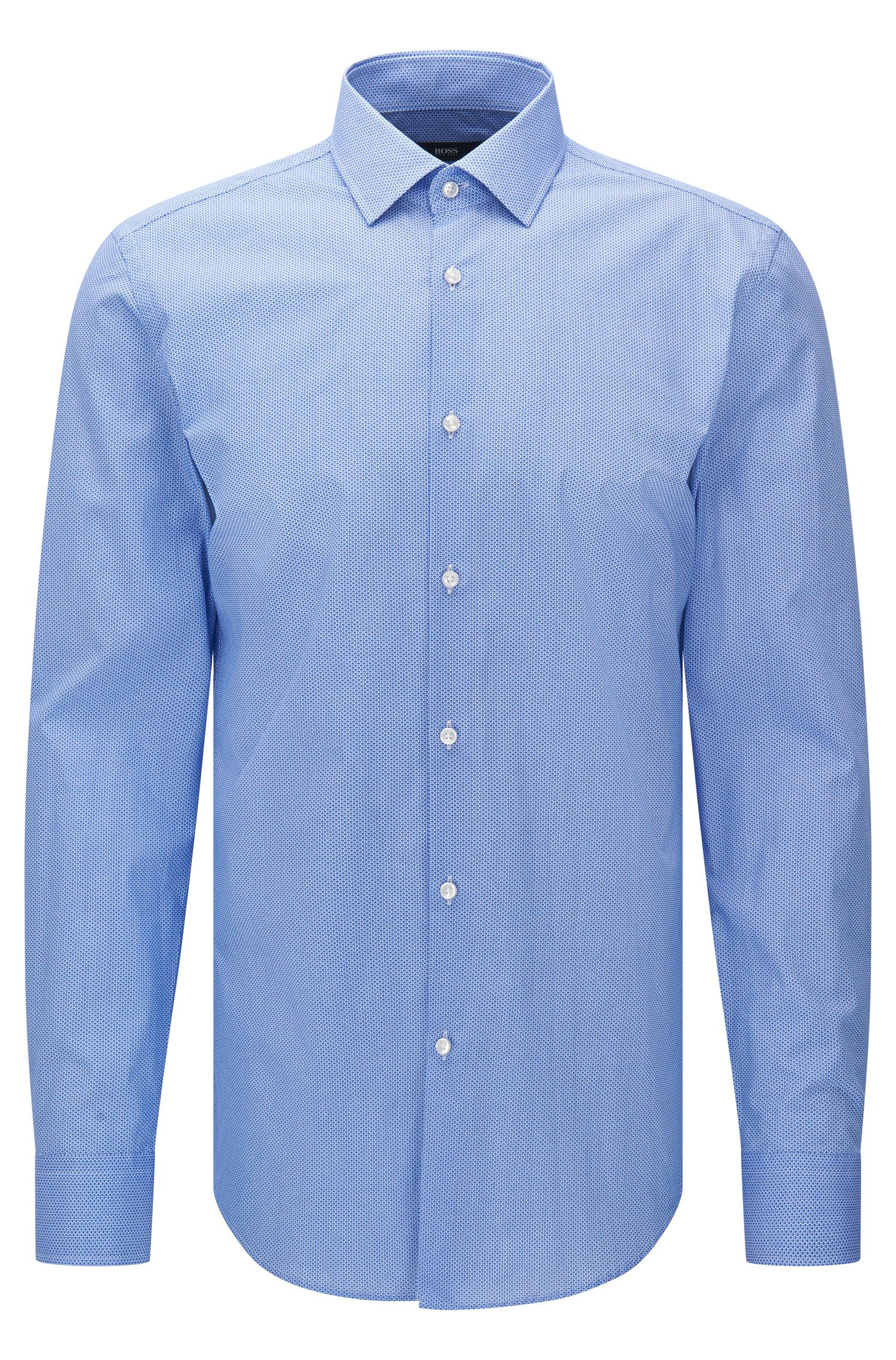 Camicia slim fit in cotone a disegni: 'Jenno'