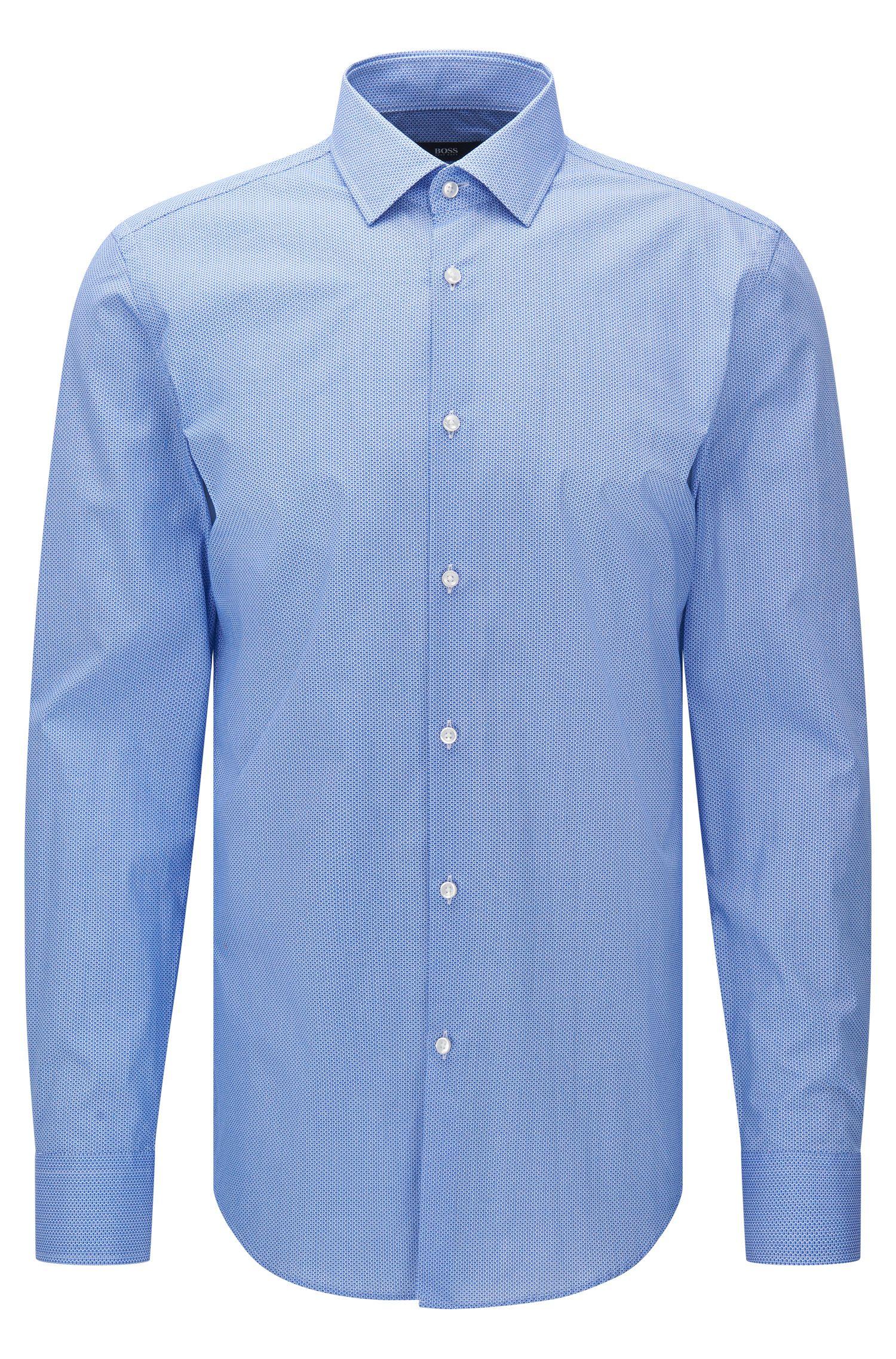 Camisa slim fit estampada en algodón: 'Jenno'