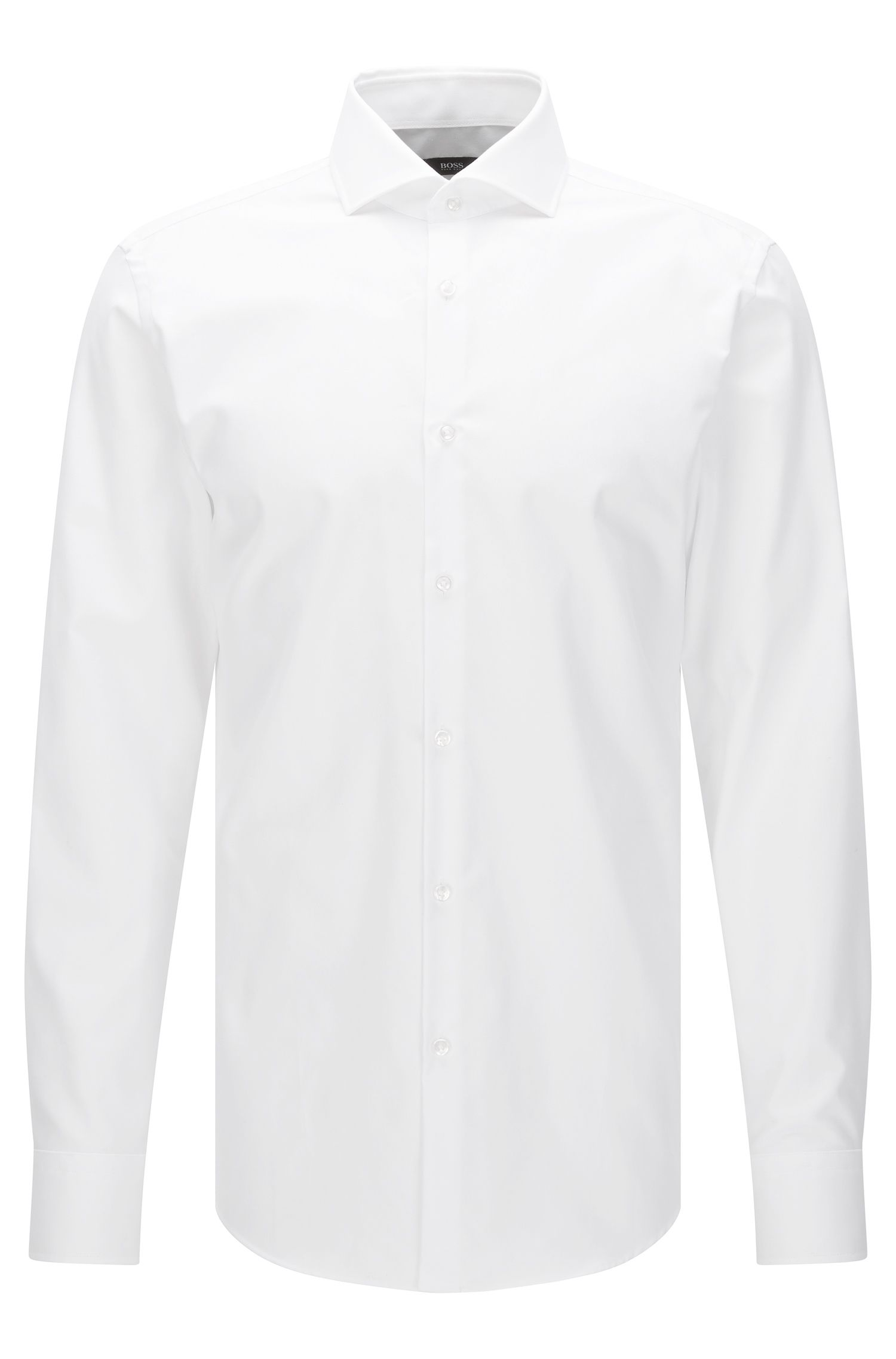 Slim-fit Travel Line shirt in breathable cotton: 'Jason'