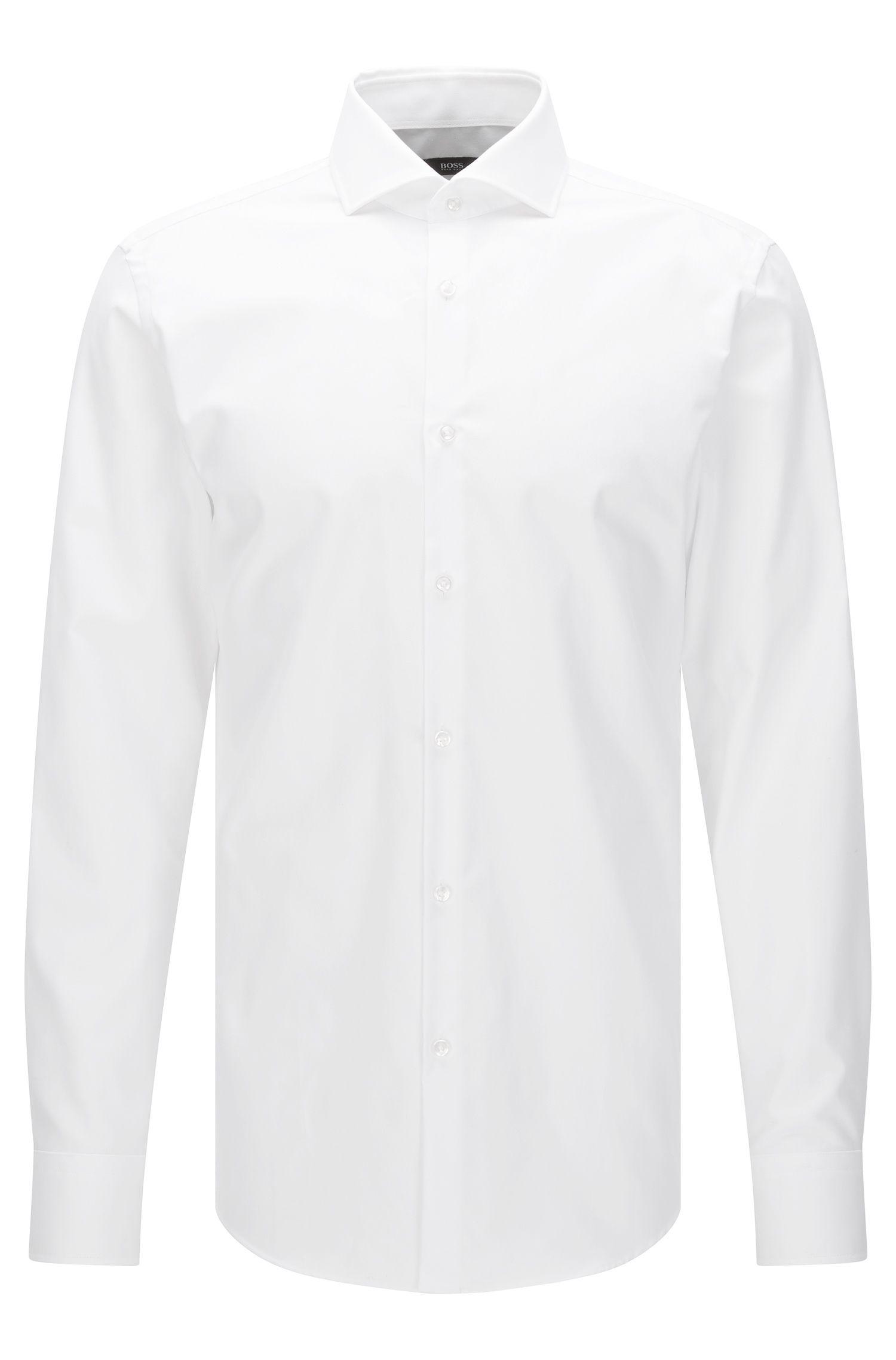 Camisa slim fit Travel Line en algodón transpirable: 'Jason'