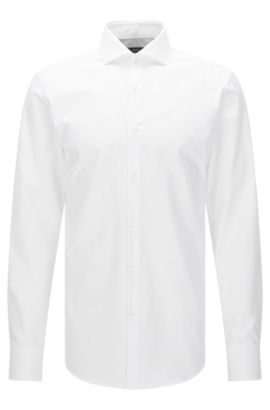 Chemise Slim Fit Travel Line en coton respirant : « Jason », Blanc