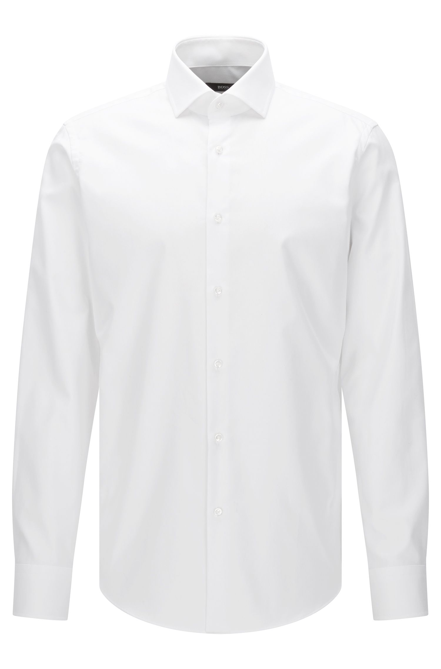 Camisa regular fit Travel Line en algodón fácil de planchar: 'Gordon'