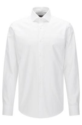 Camisa regular fit Travel Line en algodón fácil de planchar: 'Gordon', Blanco