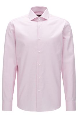 Camisa regular fit Travel Line en algodón fácil de planchar: 'Gordon', Pink