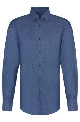 Slim-Fit Travel Line Hemd aus Baumwolle: 'Jenno', Hellblau