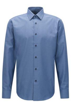 Chemise Regular Fit Travel Line en coton respirant: «Enzo», Bleu vif