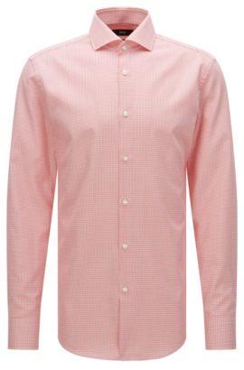 Camisa slim fit estampada en algodón: 'Jason', Rojo