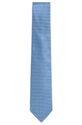 Silk tie with all-over pattern: 'Tie 7.5 cm', Light Blue