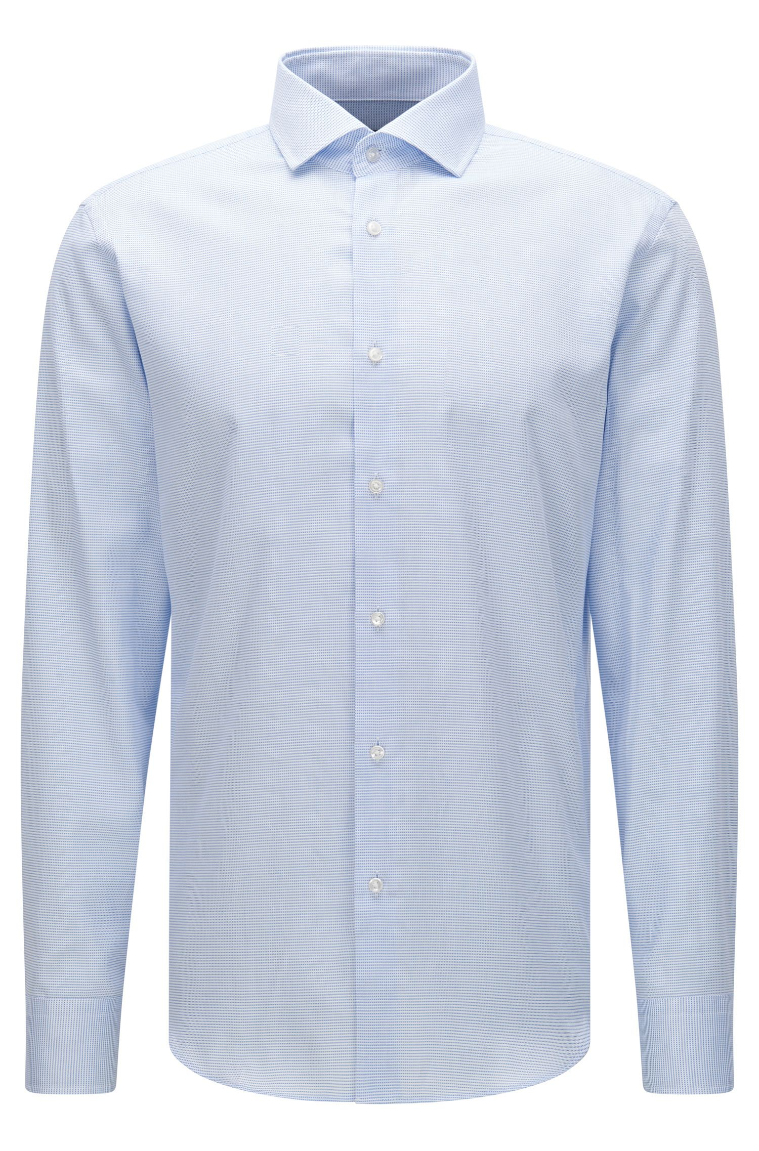 Finely patterned regular-fit shirt in cotton: 'Gordon'