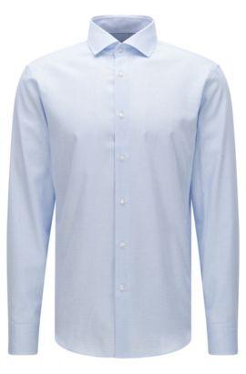 Chemise Regular Fit en coton à motif fin: «Gordon», Bleu vif