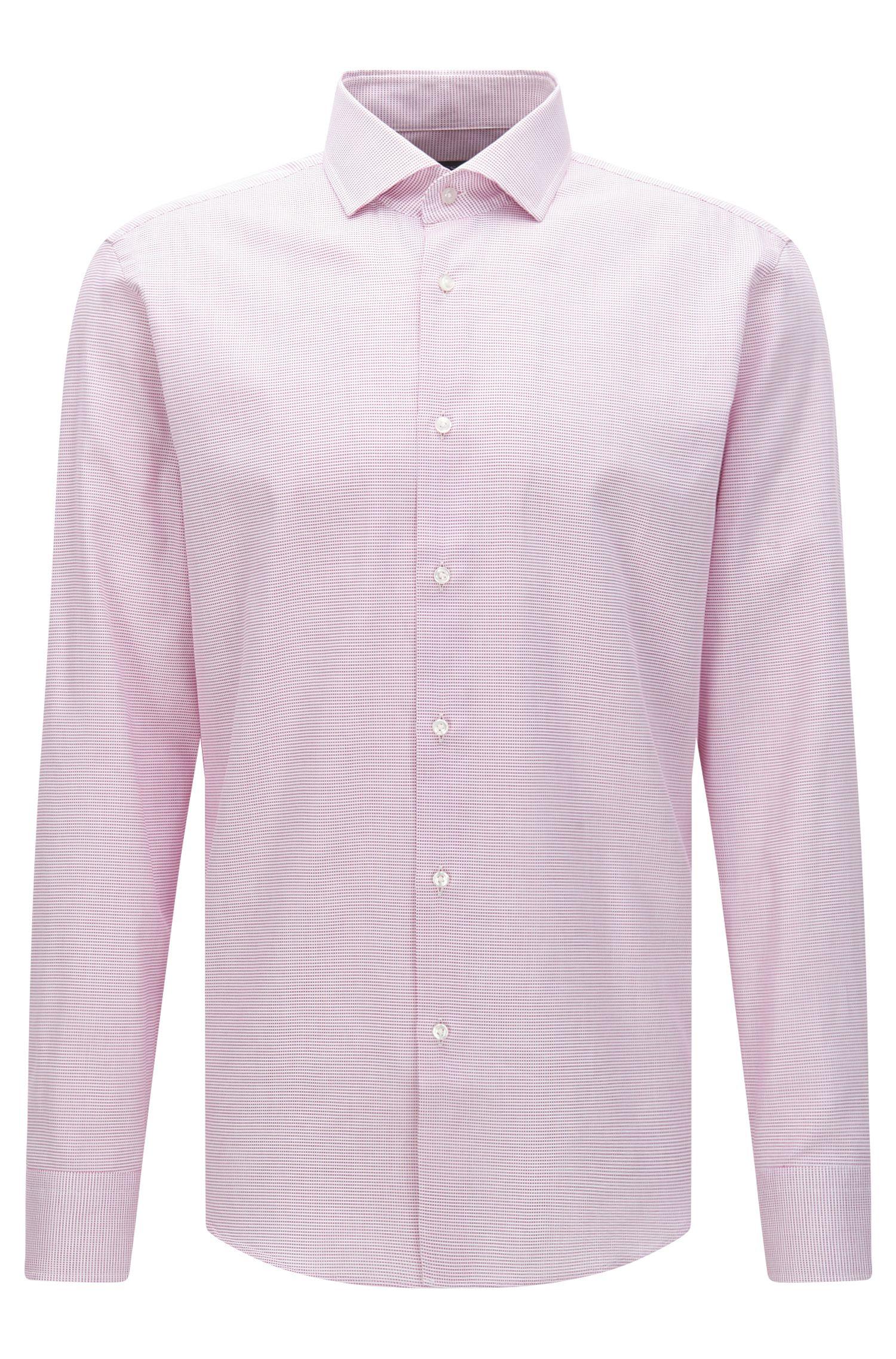 Regular-fit overhemd van katoen met fijn dessin: 'Gordon'