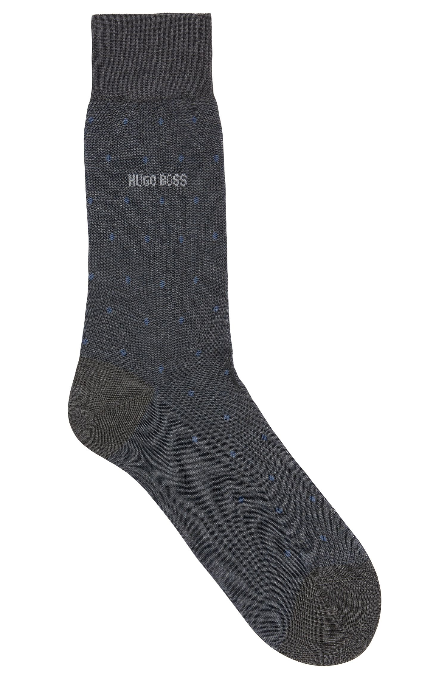 Chaussettes à motif pois en coton mercerisé
