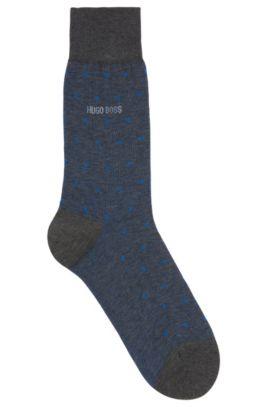 Chaussettes à motif pois en coton mercerisé, Turquoise