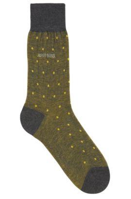 Gepunktete Socken aus merzerisierter Baumwolle, Gelb