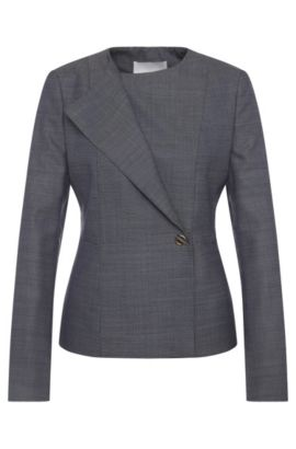 Finely patterned blazer in stretch new-wool blend with viscose: 'Jelanisa', Patterned