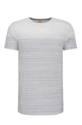 Relaxed-Fit T-Shirt aus Baumwolle im Colour-Block-Design: ´Trumble`, Dunkelblau