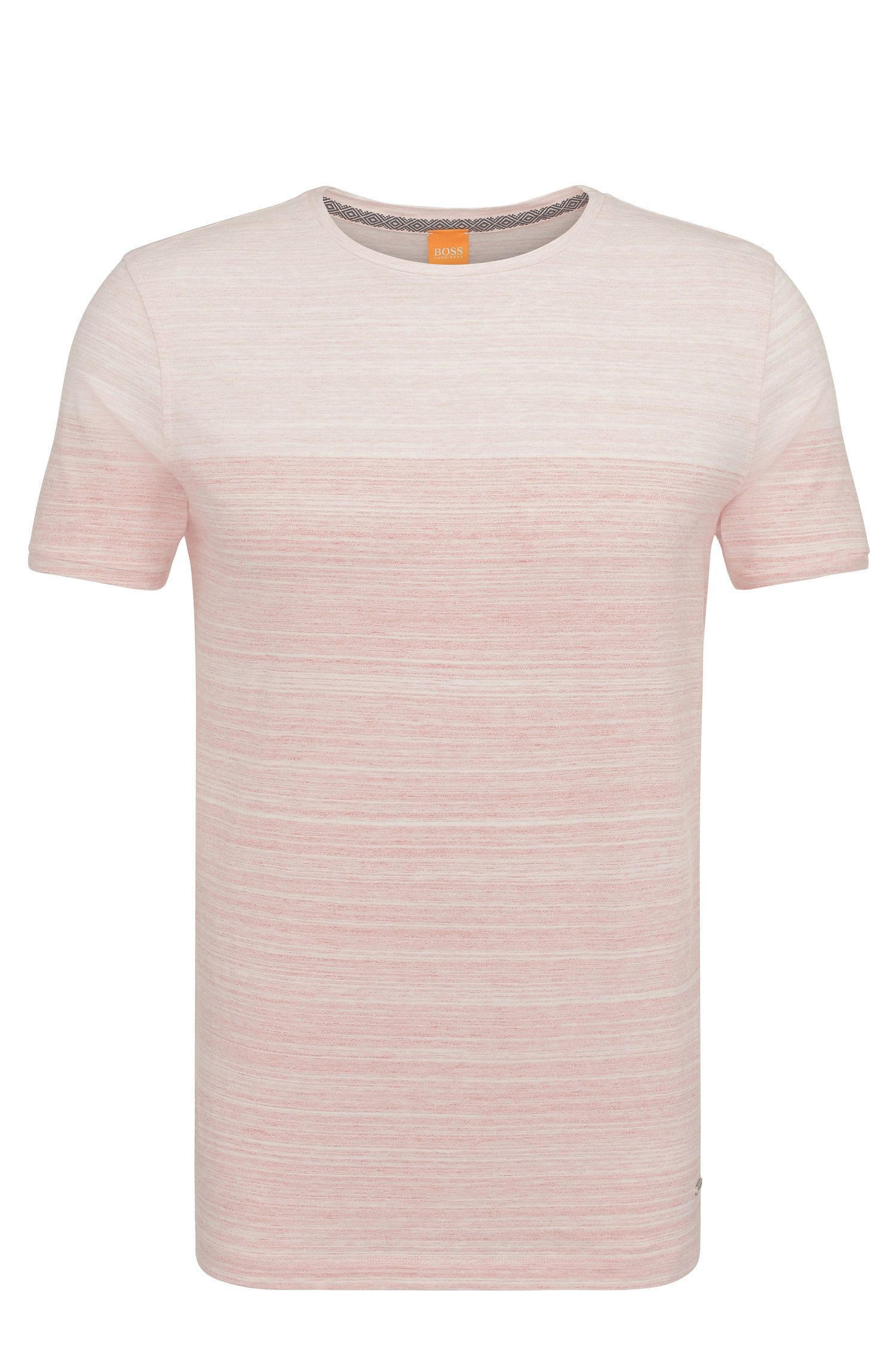 Relaxed-fit t-shirt in cotton in a colour-block design: 'Trumble'