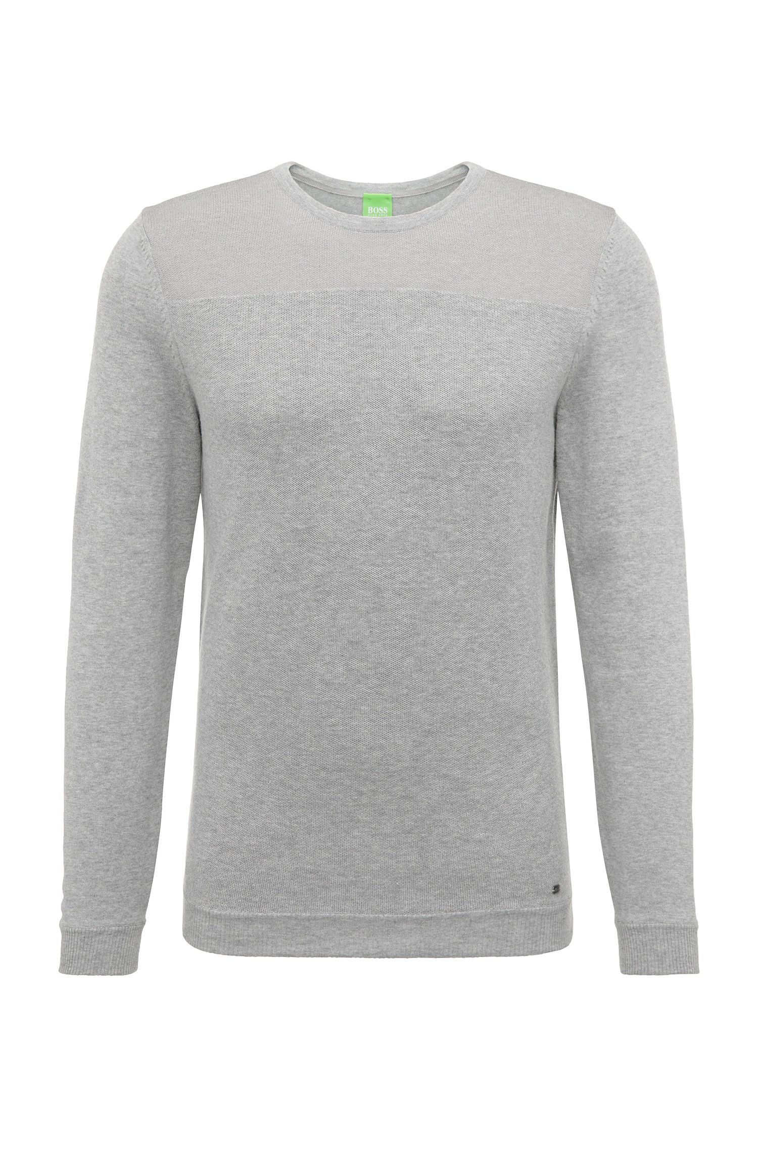 Regular-fit sweater in cotton blend: 'Rector'