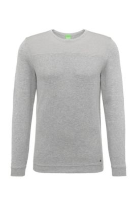 Regular-Fit Pullover aus Baumwoll-Mix: ´Rector`, Hellgrau