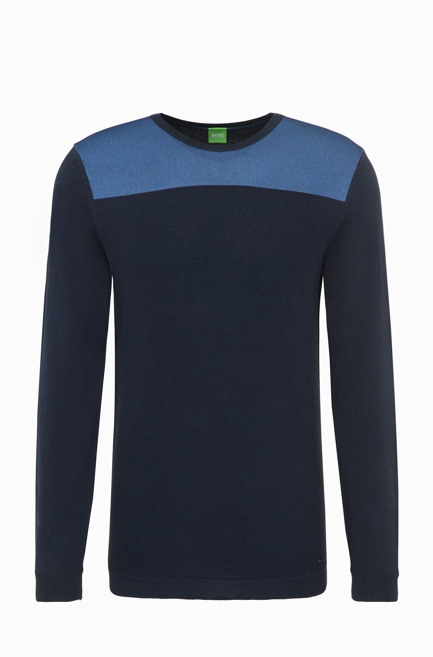 Regular-fit trui van een katoenmix: 'Rector'