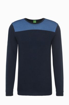 Regular-Fit Pullover aus Baumwoll-Mix: ´Rector`, Dunkelblau