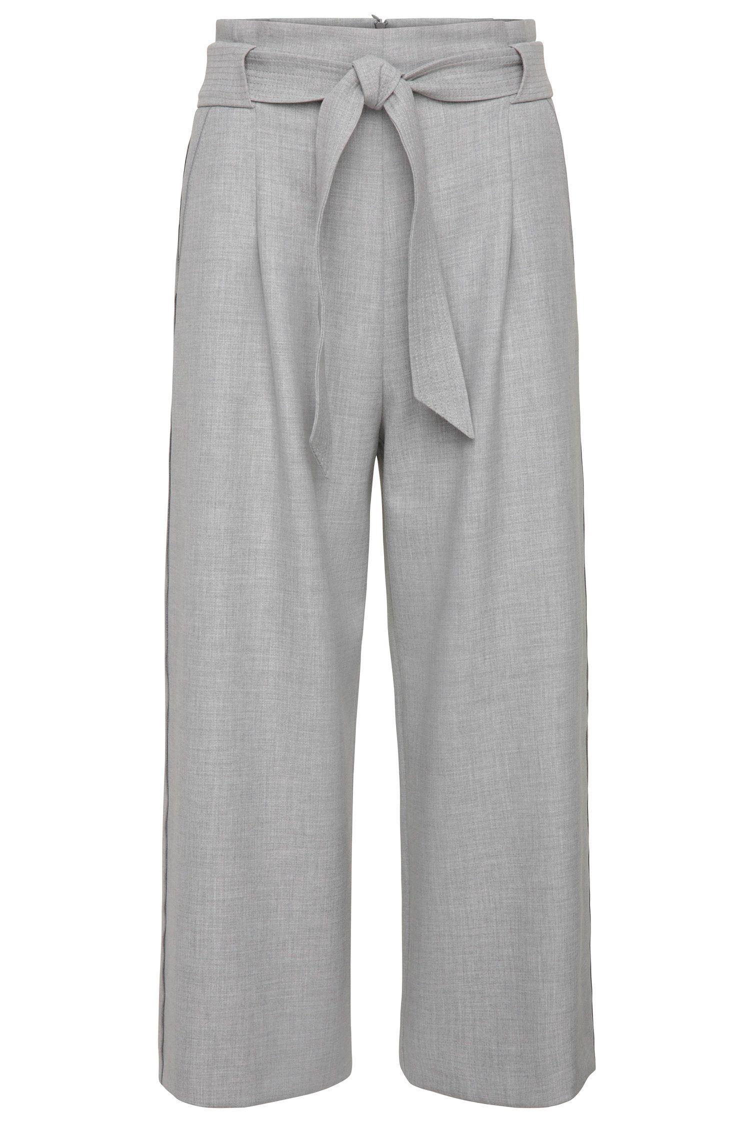 Falda pantalón en mezcla de materiales elásticos: 'Sistina'
