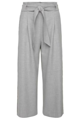 Culottes in a stretchy material blend: 'Sistina', Grey