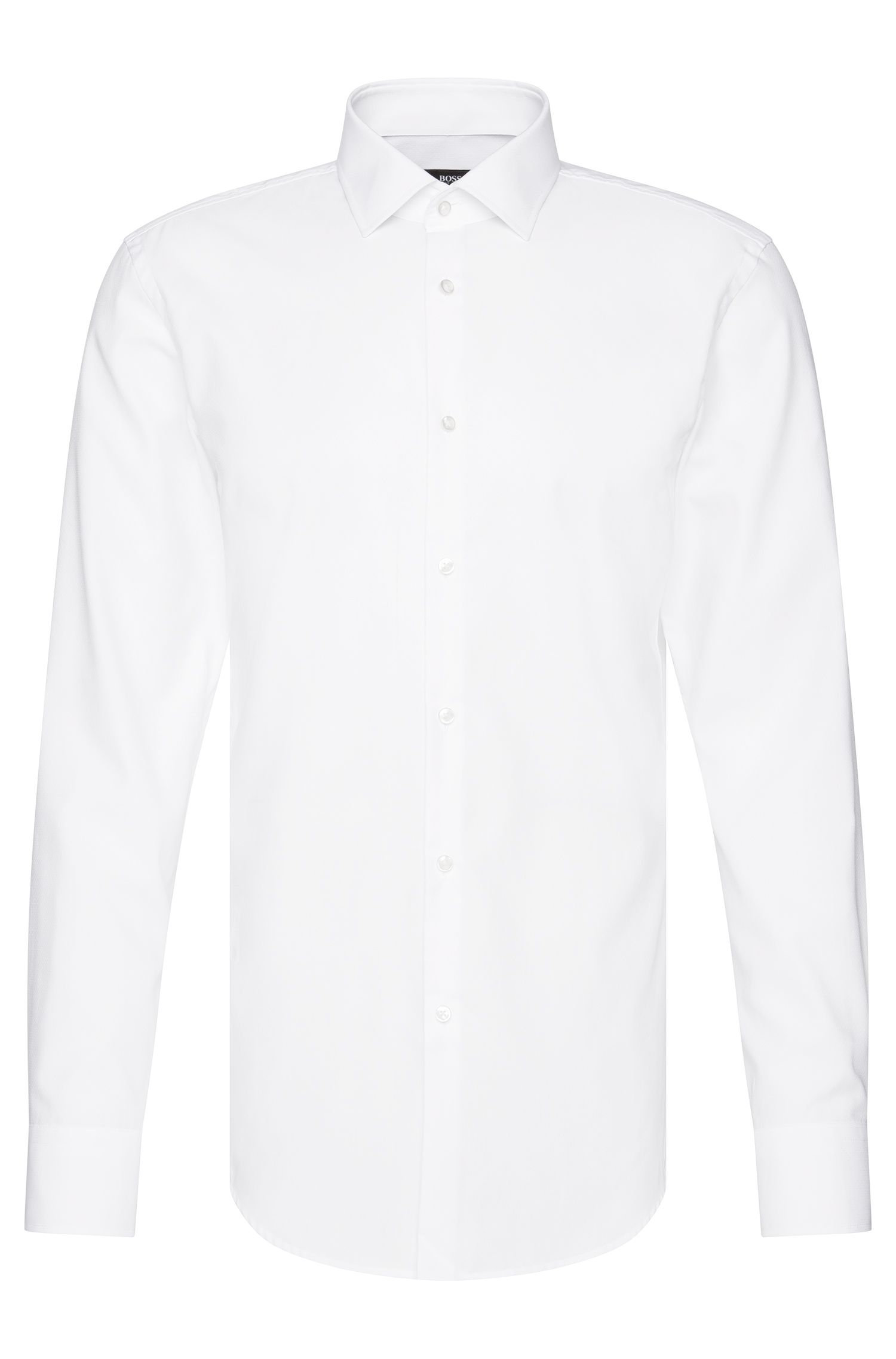 Slim-fit Travel Line shirt in breathable cotton: 'Jenno'