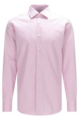 Chemise Regular Fit Tailored en pur coton : « T-Stuart », Rose clair