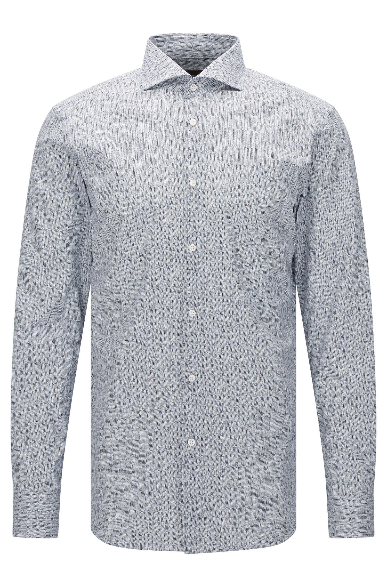 Camisa estampada slim fit de sastrería en algodón: 'T-Christo'