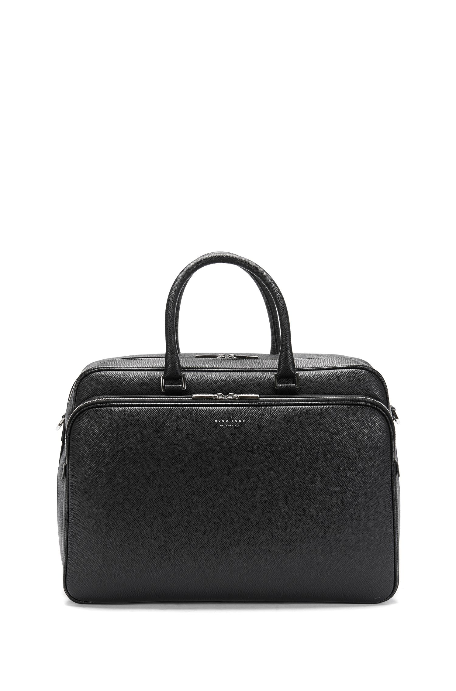 Spaziosa borsa weekender in pelle: 'Signature_Hold 24'