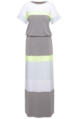 Gestreepte regular-fit maxi-jurk van een elastische modalmix: 'Dablock', Bedrukt
