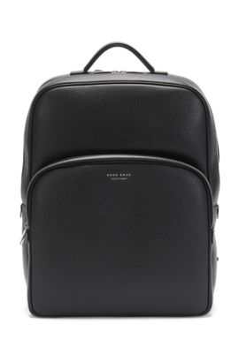 Rucksack in Palmellato leather: 'Signature_B Backpack', Black