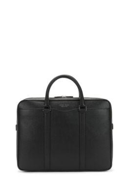 Signature Collection double document case in palmellato leather, Black