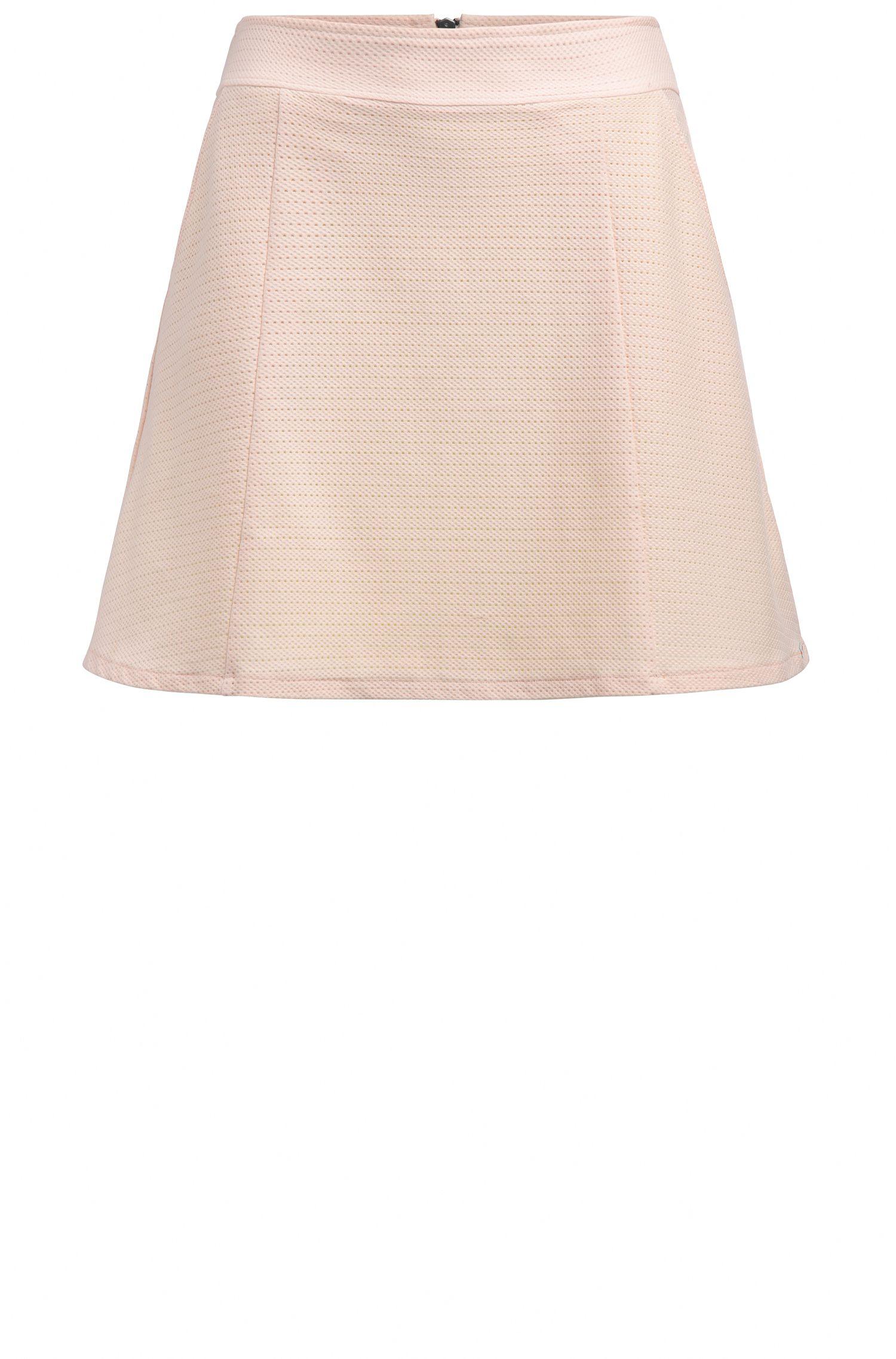 Falda de campana slim fit en mezcla de algodón elástico: 'Taskirta'