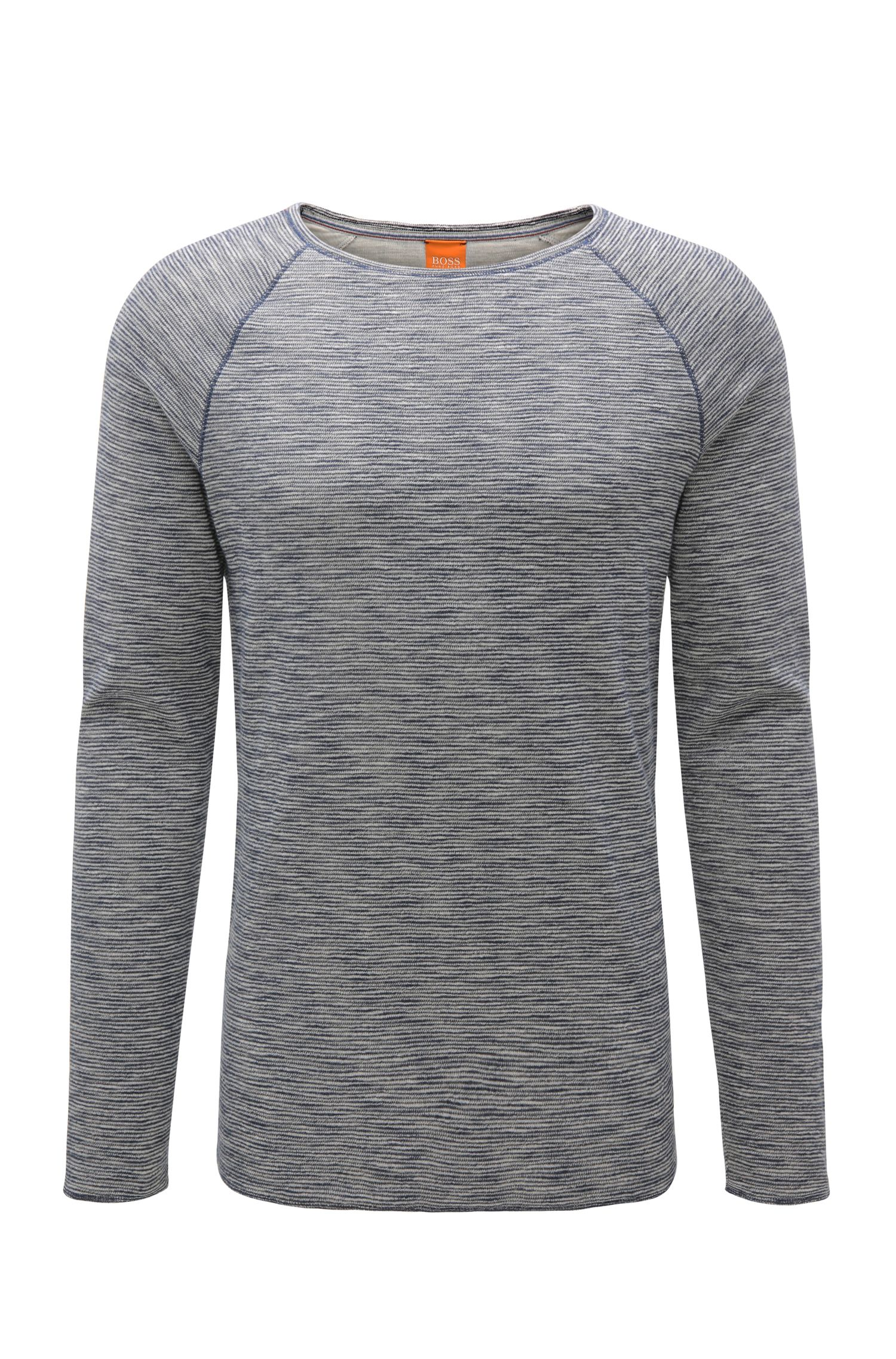Regular-fit long-sleeved shirt in cotton blend: 'Wakeme'