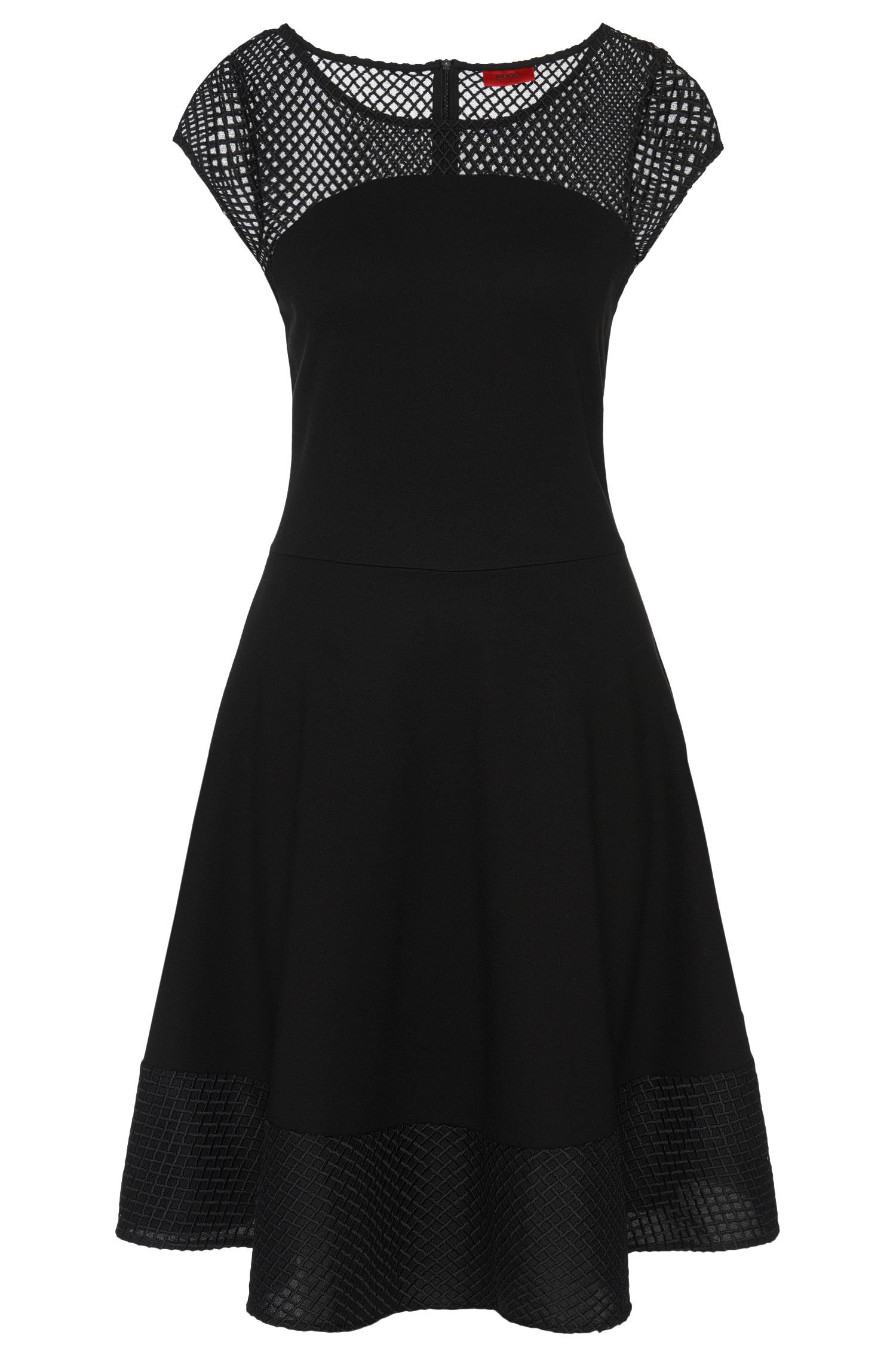 Uitlopende jurk met stiksels: 'Diranda'