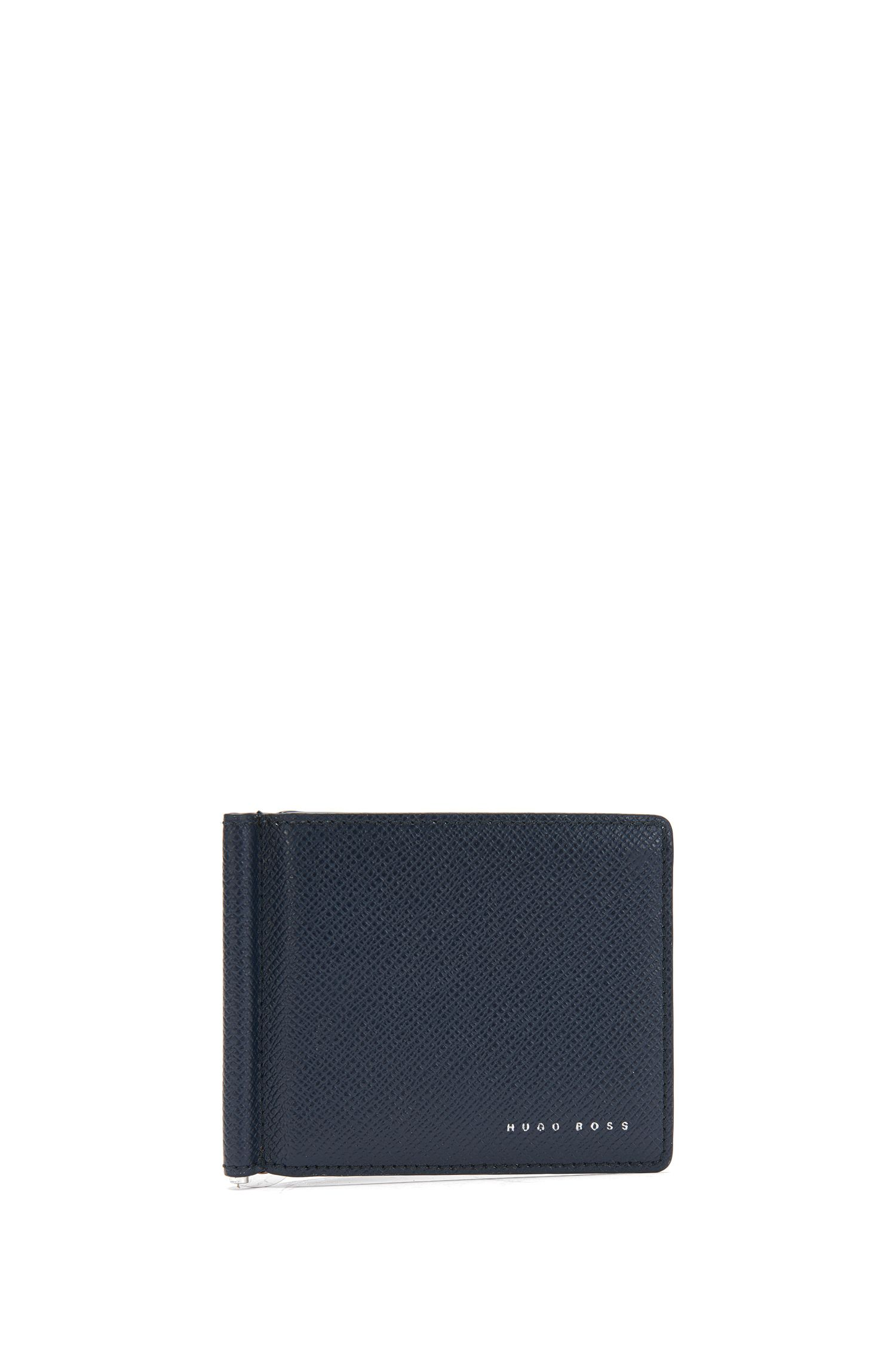 Leather wallet with money clip: 'Signature_6cc clip B'