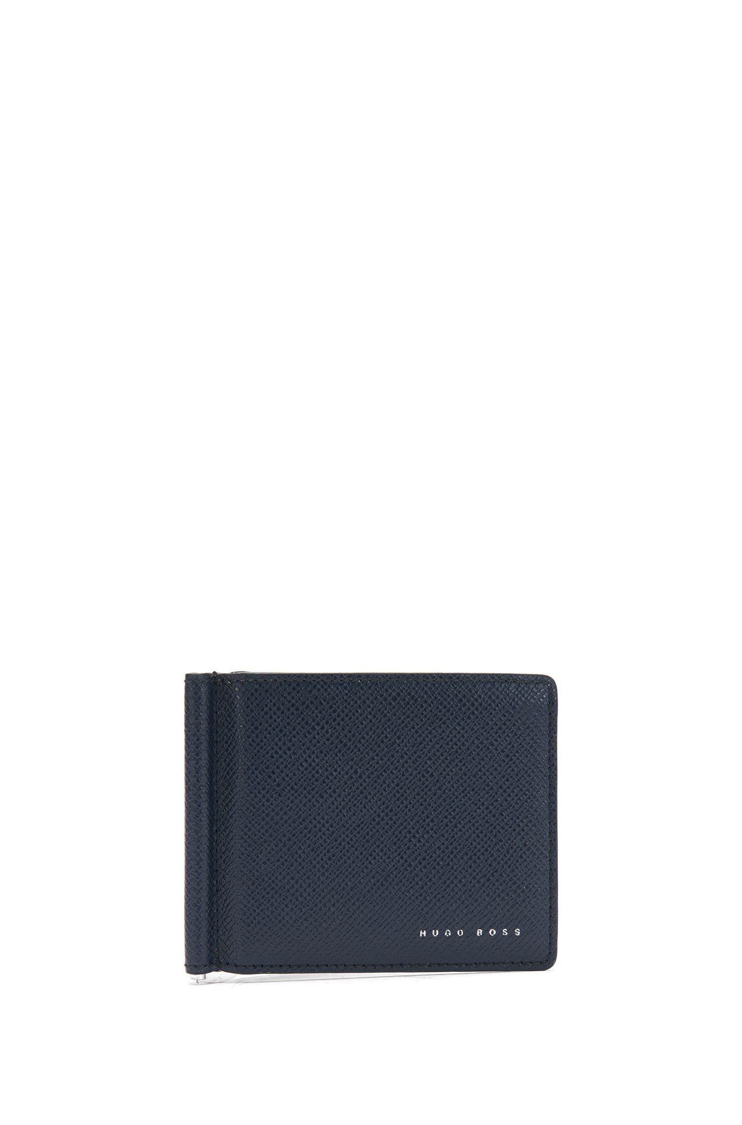 Portefeuille en cuir avec pince à billets: «Signature_6cc clip B»