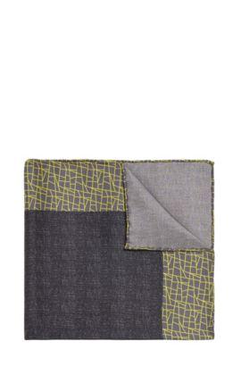 Pañuelo de bolsillo de la línea Tailored en seda en mezcla de estampados: 'T-Pocket sq. 33x33 cm', Amarillo