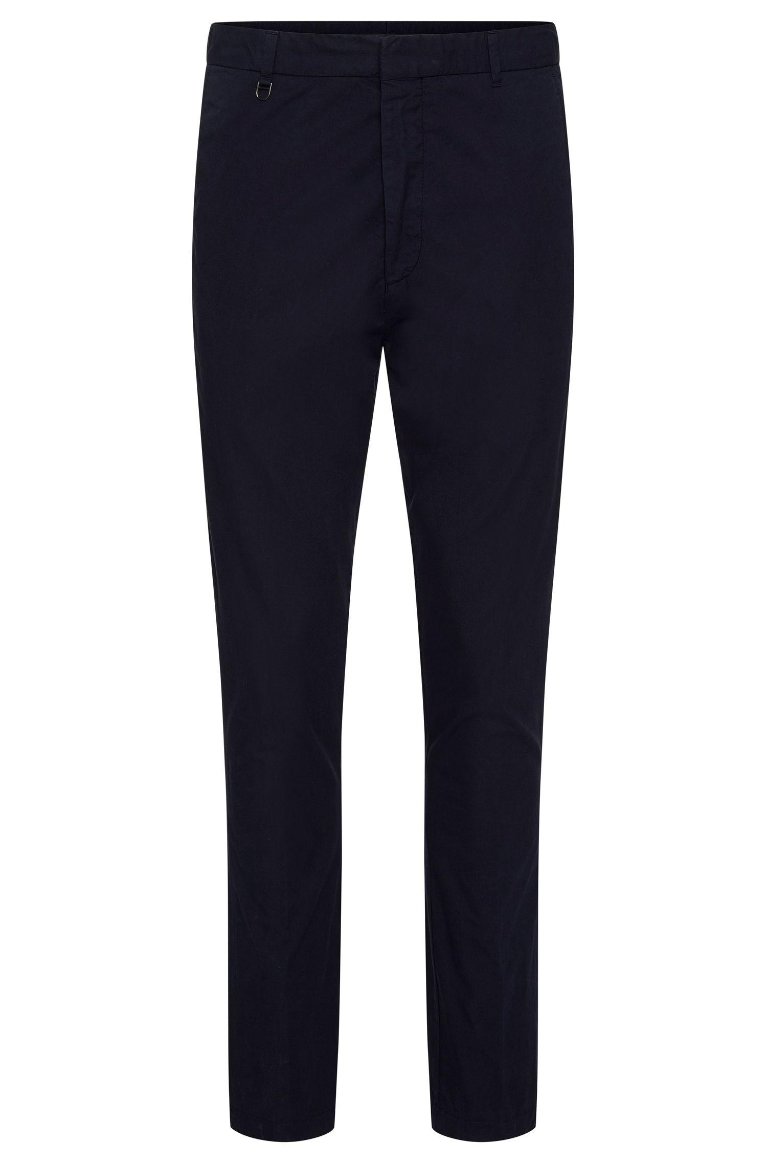Unifarbene Slim-Fit Chino aus Baumwolle: 'Hendris-D'