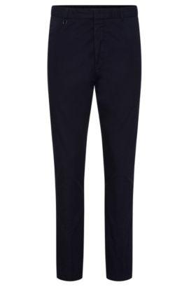 Chinos lisos slim fit en algodón: 'Hendris-D', Azul oscuro