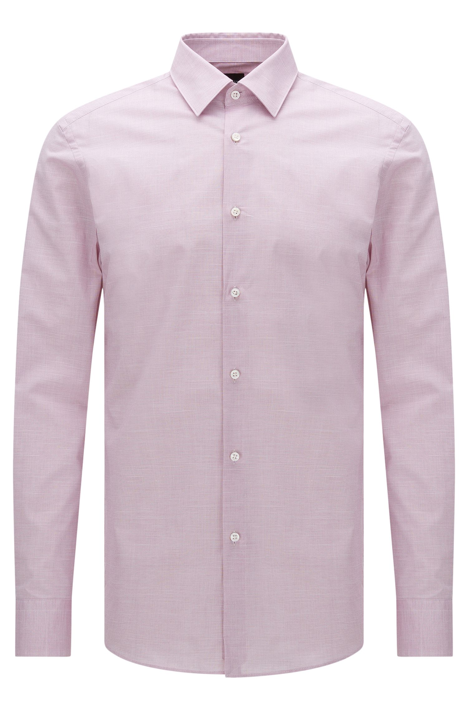 Chemise Slim Fit Tailored en coton stretch chiné : « T-Clint »