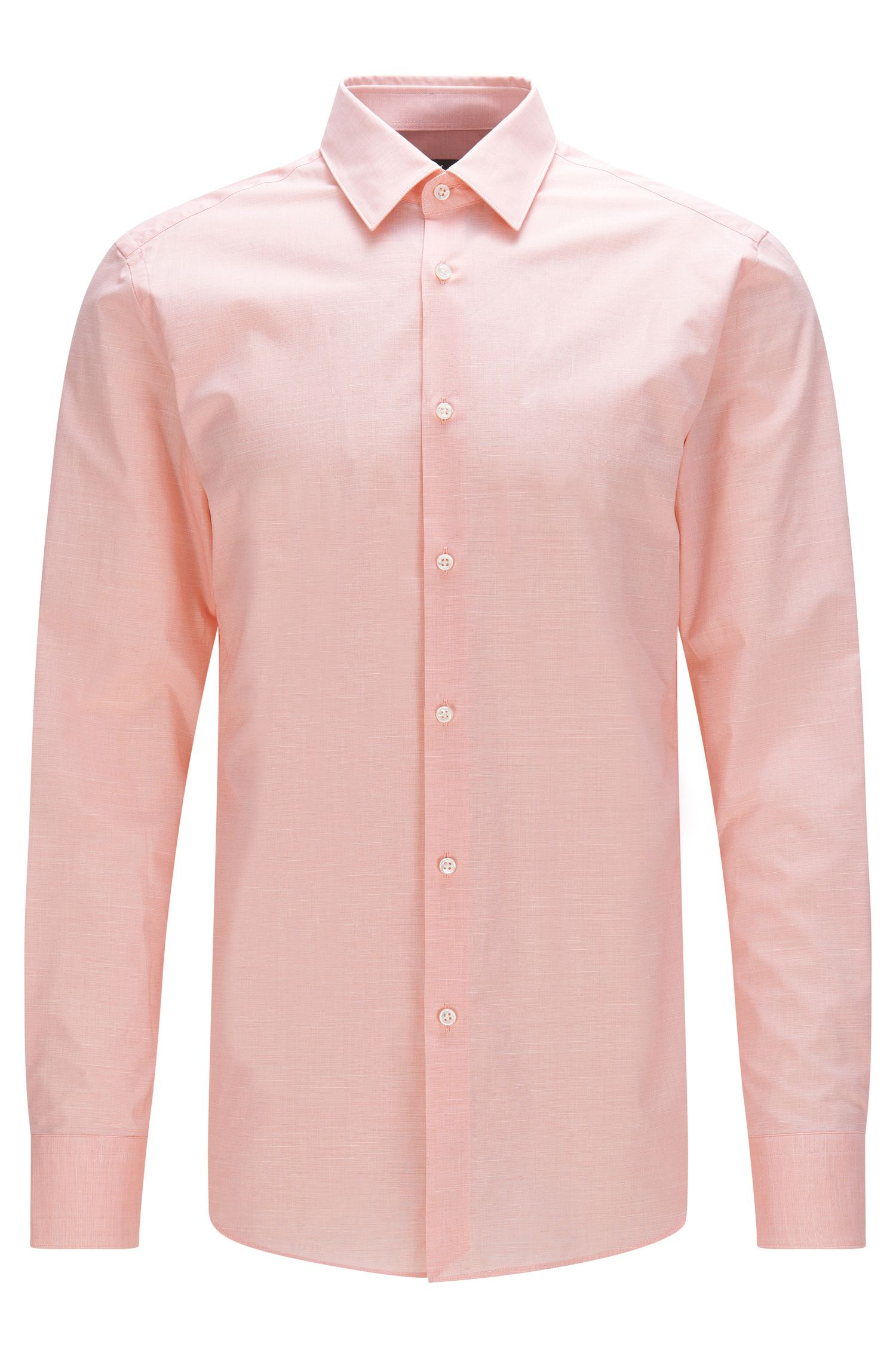 Camicia Tailored slim fit mélange in cotone elasticizzato: 'T-Clint'