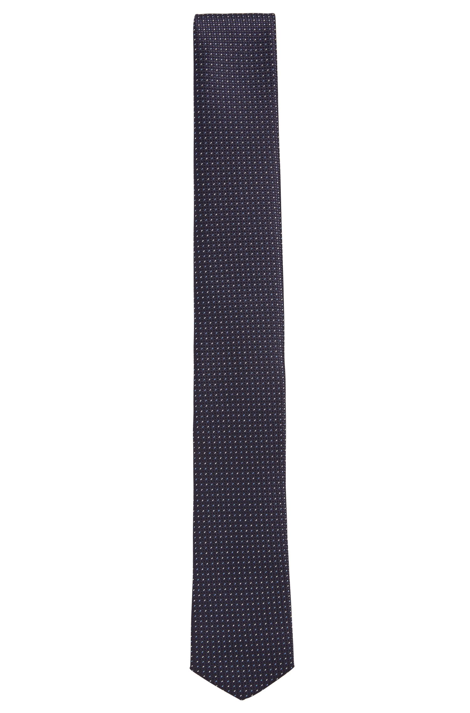 Polka dot pattern Travel Line tie in water-repellent silk: 'Tie 6 cm traveller'