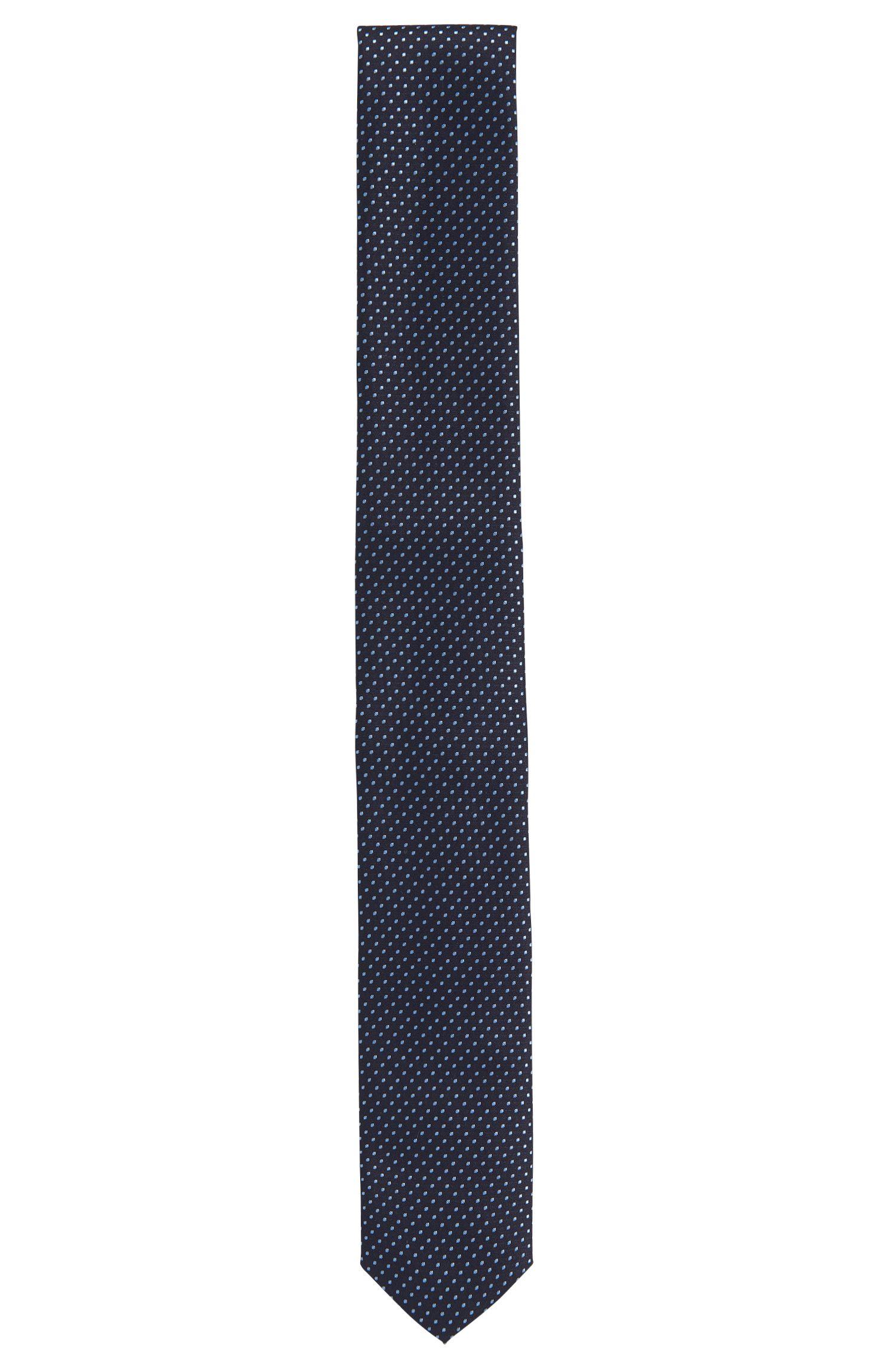 Gestippelde stropdas van waterafstotende zijde uit de Travel Line-collectie: 'Tie 6 cm traveller'